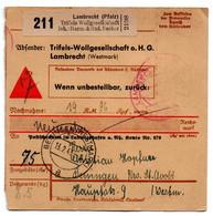 Allemagne  //  Colis Postal  //   De Lambrecht   // Pour Bening ( Bennigen ) - Deutschland