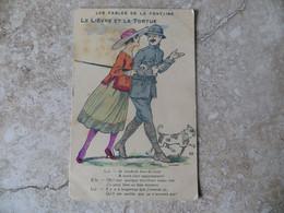 CPA - Humour Militaire - 53 Les Fables De La Fontaine Le Lièvre Et La Tortue - Humor