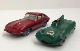 2 MATCHBOX LESNEY . N° 41 Jaguar Type D + N° 32 Jaguar Type E . - Matchbox
