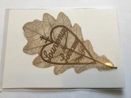 Rare Feuille D'arbre Avec Inscription Souvenir De Lorraine Artisanat De Tranchée  1914-18 - 1914-18