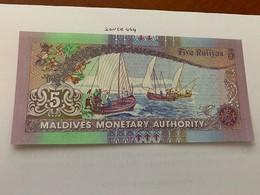 Maldives 5 Rufiyaa Uncirc. Banknote 2011 - Maldiven
