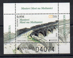 MONTENEGRO - 2018 - EUROPA - LES ANCIENS PONTS - OLD BRIDGES - B/F - M/S - - Montenegro