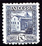 ANDORRE ESPAGNOL - 40 - 60c Bleu - Neuf N** - Très Beau - Nuovi