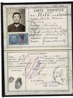 CARTE IDENTITE  1944- Mme HUE Née à Limpiville Et Domicile Graimbouville - Tarjetas De Visita