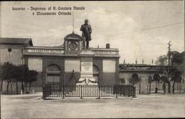 CPA Livorno Toscana, Ingresso Al R. Cantiere Navale E Monumento Orlando - Other