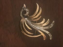 Bellissima Spilla Vintage In Argento 800 Anni 50 Bicolore - Brooches