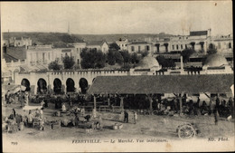 CPA Menzel Bourguiba Ferryville Tunesien, Le Marche, Vue Interieure - Túnez