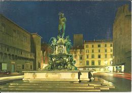 Bologna (Emilia R.) Fontana Del Nettuno, Notturno, Neptune's Fountain, By Night - Bologna