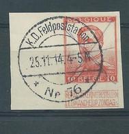 N°123 ND AVEC OBLITERATION MILITAIRE - 1912 Pellens