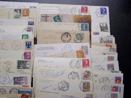 France - Oblitérations - Héxagonales - Tiretées - Convoyeurs - Ambulants - Voir Détail - Lot De 49 SUR CPA CPSM - Manual Postmarks