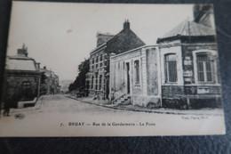 CPA - BRUAY (62) - Rue De La Gendarmerie - La Poste - Francia