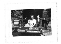 COFFRE DE LA VOITURE BEAULIEU 5054 TTA 75 PRES DE SAULT OCTOBRE 1958 DIRECTION VENTOUX - PHOTO 10.5*8 CM - Automobili