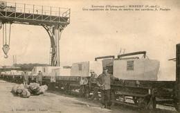 62 - PAS DE CALAIS - RINXENT - Environs D'Hydrequent - Une Expédition De Blocs De Marbre Carrières A. Poulain - Train - Francia