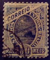 Bresil Brasil Brazil 1894 Pain De Sucre Sugarloaf Mountain Pao De Acucar Yvert 81 O Used - Gebraucht