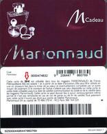 Carte Cadeau -  Marionnaud / 20 € -  Lettre B - Voir Scan - Gift Card - Gift Cards