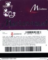 Carte Cadeau -  Marionnaud / 50 € -  Lettre A - Voir Scan - Gift Card - Gift Cards