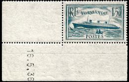 Paquebot Normandie N° 300 ** Coin Daté Du 16.5.36 - Nuevos