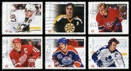 Canada (Scott No.2942-47 - Grands Attaquants / Hockey / Great Forwards) (o) Set - 1952-.... Reign Of Elizabeth II