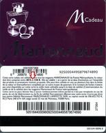 Carte Cadeau -  Marionnaud / De 20 € à 150 € - Voir Scan - Gift Card - Gift Cards