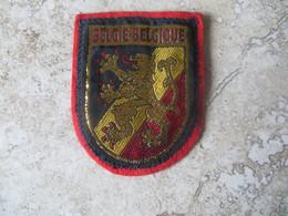 Ecusson En Tissu Support Feutrine Belgie Belgique Liseret Dorure - Patches