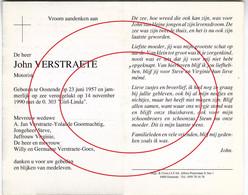O.303 Girl Linda (verongelukt Op Zee) Verstraete John, Oostende - Ostende (visser,zeeman) - Images Religieuses