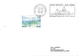 1863, Sur Lettre Au 15-10-1976 SAINT-BENOIT-SUR-LOIRE (LOIRET) Très Belle Empreinte! - Marcophilie (Lettres)