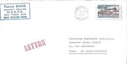 1758 - CHATEAU DE GIEN (LOIRET) Sur Lettre Au 3-11-1975 - Marcophilie (Lettres)