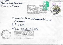 2429 - MARCASSITE, Sur Lettre Au 7-4-1987, Avec 0.20F En Complément D'affranchissement - Marcophilie (Lettres)
