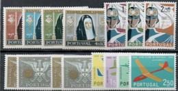 PORTUGAL : C108  -  1958/62  4  MNH Sets  -  Yvert  €  65 - Unused Stamps