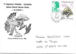 2429 - MARCASSITE, Sur Lettre Illustrée, Au 31-1-1987, Avec 0.20F En Complément D'affranchissement - Marcophilie (Lettres)
