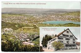 ALBIS-HOCHWACHT: Gasthaus Hirschen Mit Aussicht 1911 - ZH Zurich