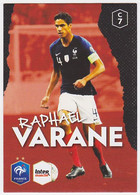 Carte Panini Intermarché Football - Raphaël Varane, N° 7 - Panini