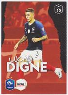 Carte Panini Intermarché Football - Lucas Digne, N° 10 - Panini