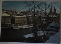 Zurich - Im Winter  - Limmatqual Grossmunster - Formato Grande Viaggiata  – E 17 - ZH Zurich