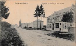 Cul-des-Sarts - L'Église Et Maison Richoux - Cul-des-Sarts