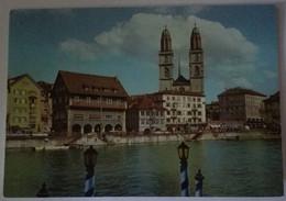 Zurich - Limmatquai Und Grossmunster - Formato Grande Viaggiata – E 17 - ZH Zurich