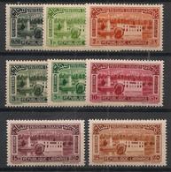 Grand Liban - 1937 - Poste Aérienne PA N°Yv. 57 à 64 - Série Complète - Neuf Luxe ** / MNH / Postfrisch - Great Lebanon (1924-1945)