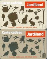 Carte Cadeau -  Jardiland  / 2 Cartes - Gift Card - Gift Cards