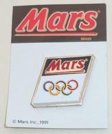 Pin's MARS, SPONSOR J.O. BARCELONE, ANNEAUX - Olympic Games