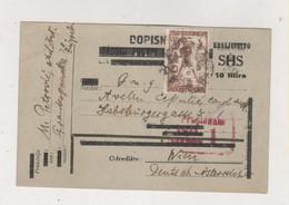 CROATIA SHS 1919 ZAGREB Postal Stationery To Austria - Croatie