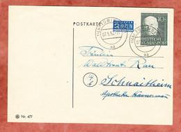 Karte, Helfer Der Menschheit Bodelschwingh + Notopfer, Tuebingen Nach Schnaitheim 1952 (97805) - Cartas