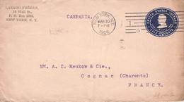 USA - STATIONARY ENVELOPE 5c NY > COGNAC/FRANCE 1906  Sc #U394 /AS236* - 1901-20