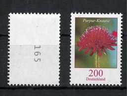 """BRD """"Purpur-Knautie"""" Mi-Nr. 3556 ** Mit Nummer - Unused Stamps"""