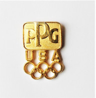 Pin's Doré PPG USA Jeux Olympiques JO - Mel/ - Olympic Games