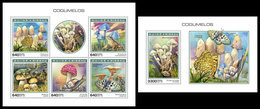 GUINEA BISSAU 2018 - Mushrooms, Frogs - YT 7942-6 + BF1493, CV=38 € [GB181105] - Frogs