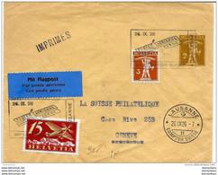 """13-16- Enveloppe  """"Vol Lausanne-Berne"""" Cachet Comptoir Suisse Lausanne 1926 - Posta Aerea"""