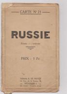 Ancienne Carte Géographique Edition  R.DE ROUCK    RUSSIE - Geographical Maps