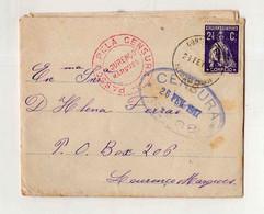 Cx15 103) Portugal Ceres 1917 Censura Lx E Lourenço Marques > Esposa Governador De Moçambique - 1910 - ... Repubblica