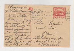 CZECHOSLOVAKIA 1919 PRAHA Postal Stationery To Austria - Czechoslovakia