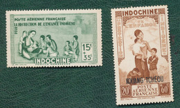 STAMP INDOCHINE AND  INDOCHINA STAMP WITH OVERPRINT - Postzegels